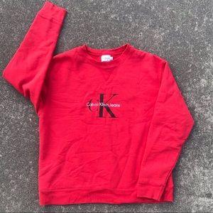 Calvin Klein CK Logo Designer Crewneck Sweater